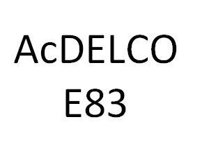 AcDELCO E83