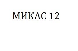 МИКАС 12
