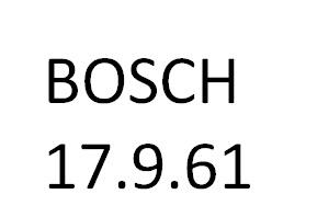 BOSCH 17.9.61